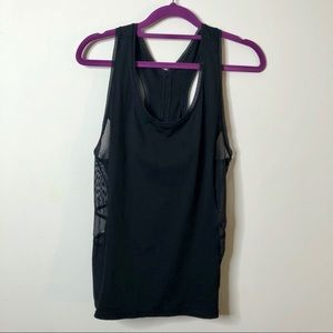 Lululemon racerback tank top with mesh trim